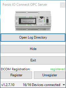 OPC DA Server GUI